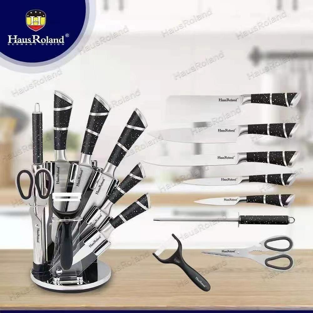 A亚克力刀架不锈钢厨房刀具套装8件套刀 厨用刀具套装