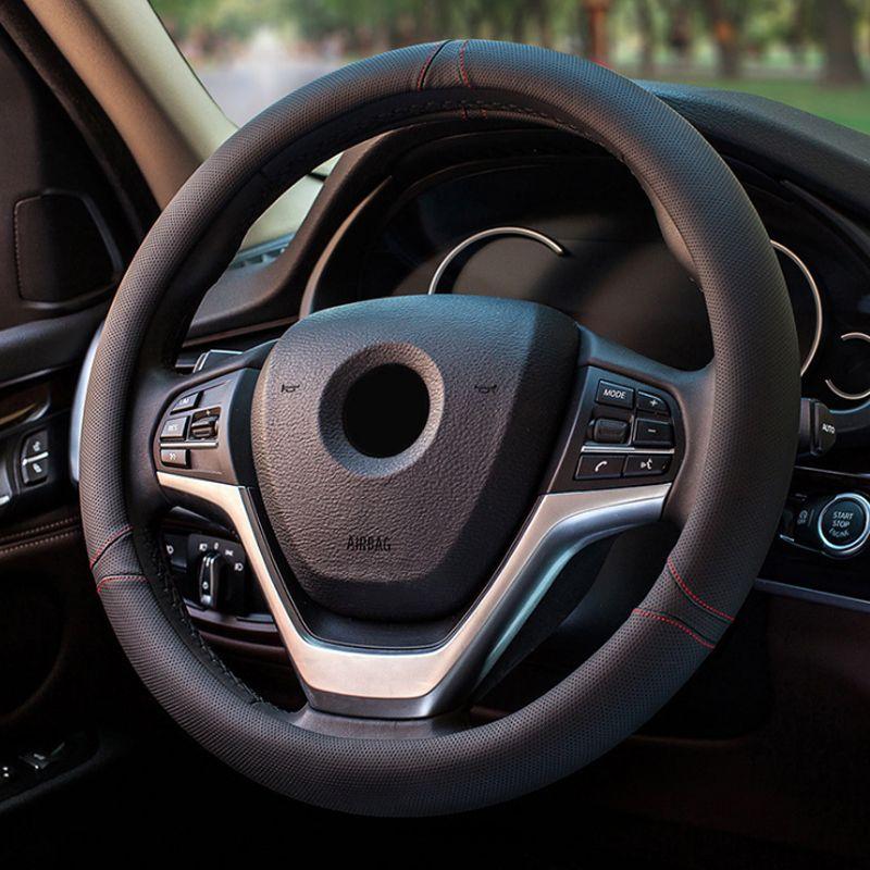 新款超迁皮耐磨汽车方向盘套 多车型通用款 工厂直销防滑吸汗把套