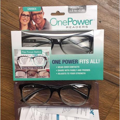 亚马逊新款one power 男士老花镜自动调节黑灰色透明镜框时尚轻巧