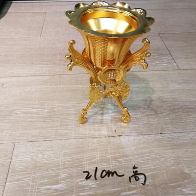 金色花朵香炉(小号)