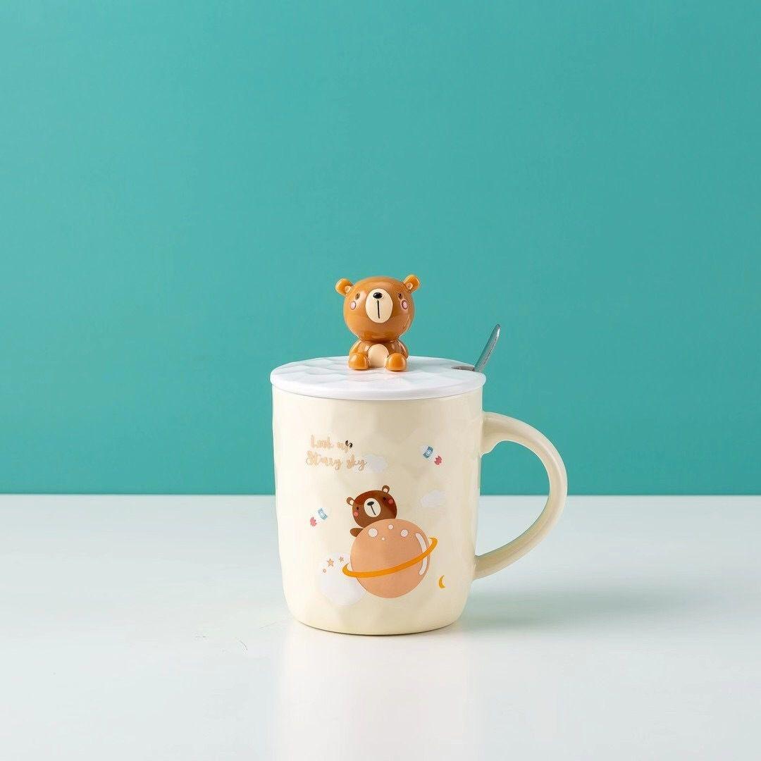 时尚恐龙浮雕陶瓷杯 创意卡通学生水杯子 牛奶杯 家用情侣早餐杯