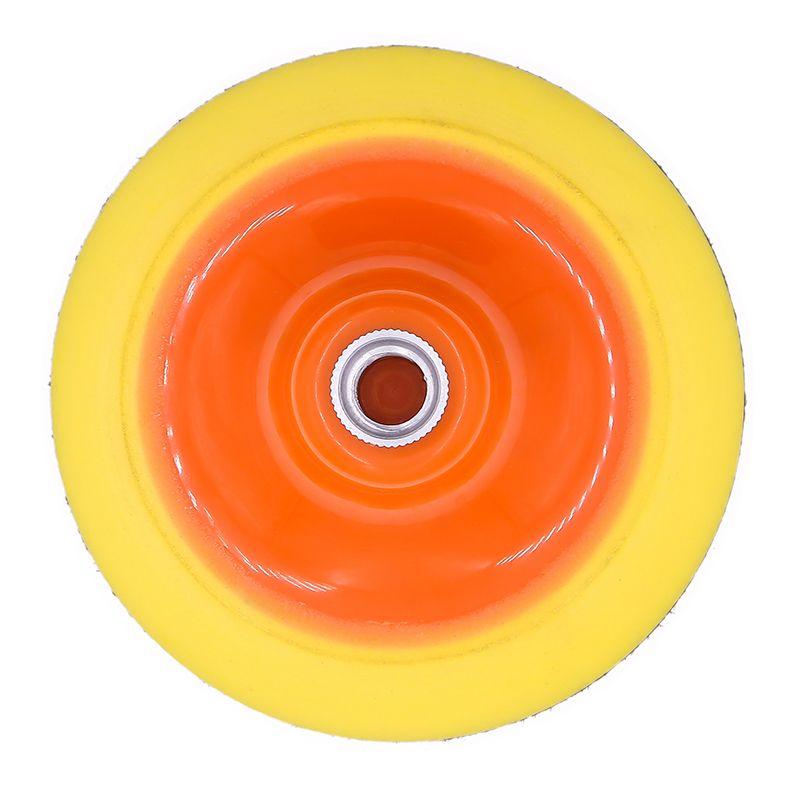 电动抛光机托盘自粘片圆盘角磨机底座头砂纸托头拉绒砂纸弹性抛光盘