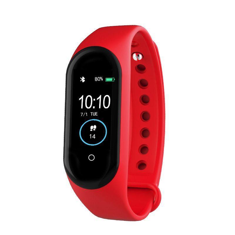 M4智能手环蓝牙计步手环信息来电提醒心率手环电子礼品