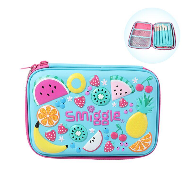 smiggle卡通水果EVA大容量笔袋 学生防水文具儿童拉链笔袋 铅笔盒