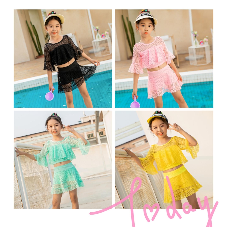 夏季新款儿童中小童分体两件套小清新泳衣泳装