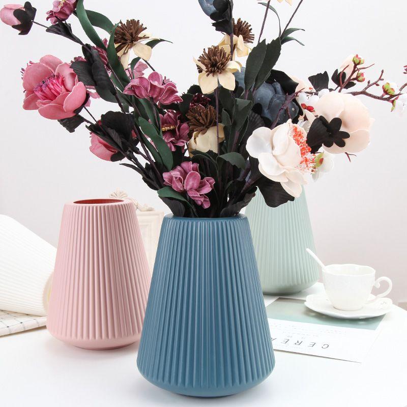 不规则圆形pe家居插花花器客厅现代创意简约小清新居家装饰品摆件