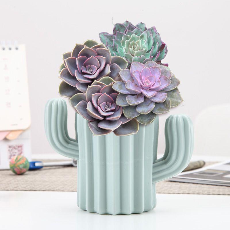 北欧简约现代仙人掌型花瓶 家居装饰仙人掌摆件 多肉仙人掌花瓶