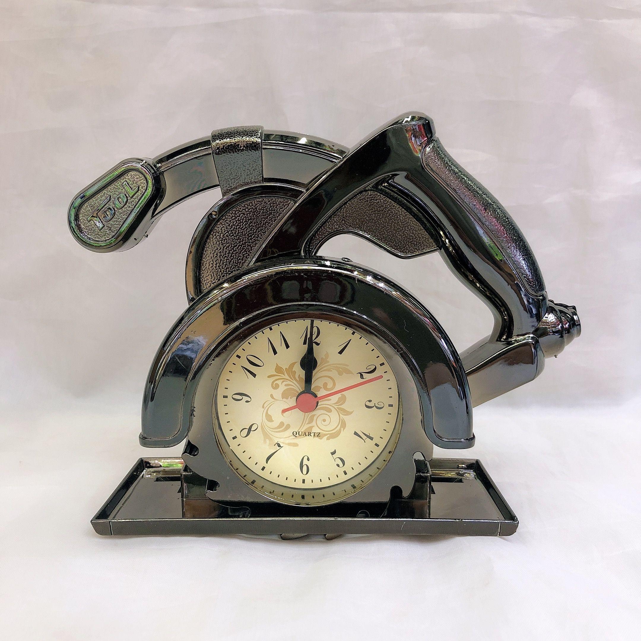 创意复古切割机时尚闹钟 学生书房个性时表