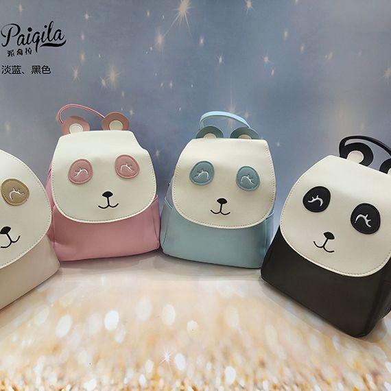 多色可选厂家直销内销外贸批发可爱熊猫卡通儿童双肩包
