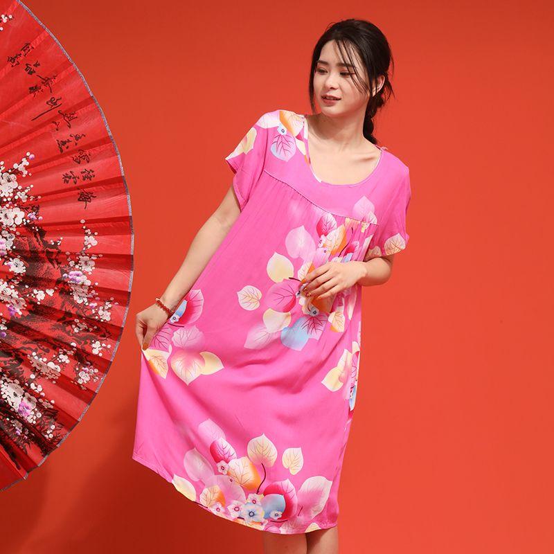 棉绸睡裙 人棉40支睡裙 经典爆款睡裙 现货批发 承接外贸定制