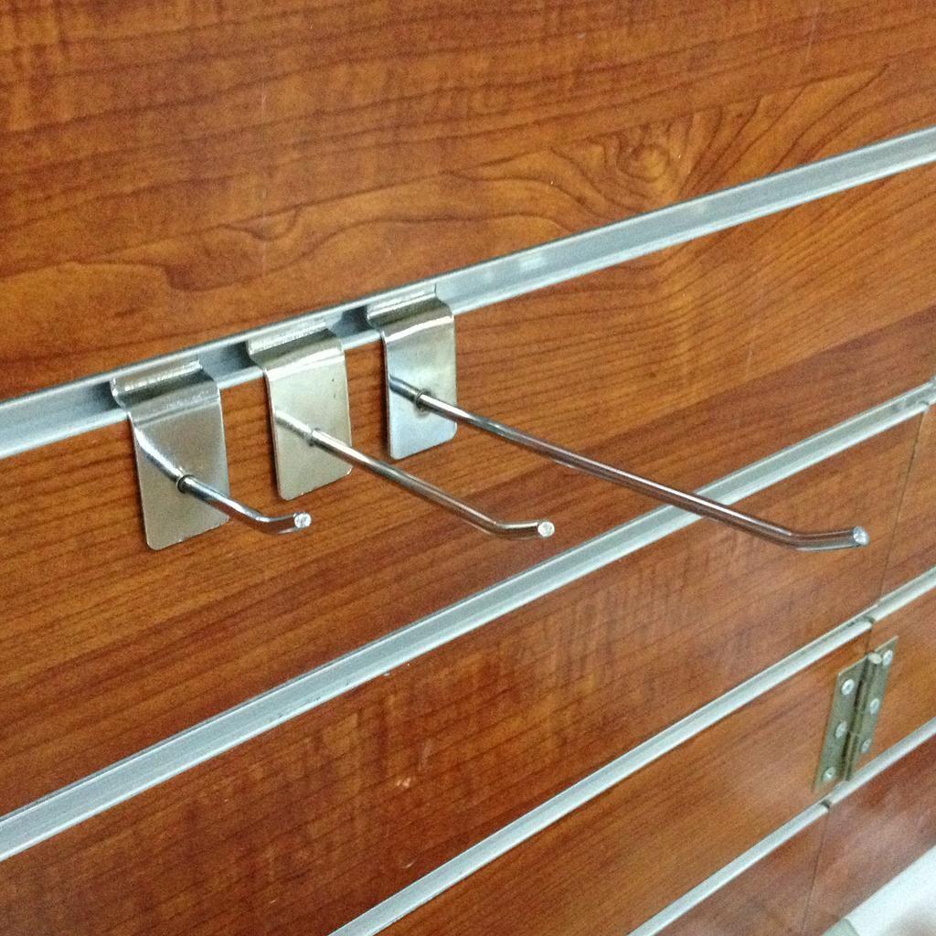 25厘米长B5木槽板直挂钩 电镀五金商用店铺挂钩