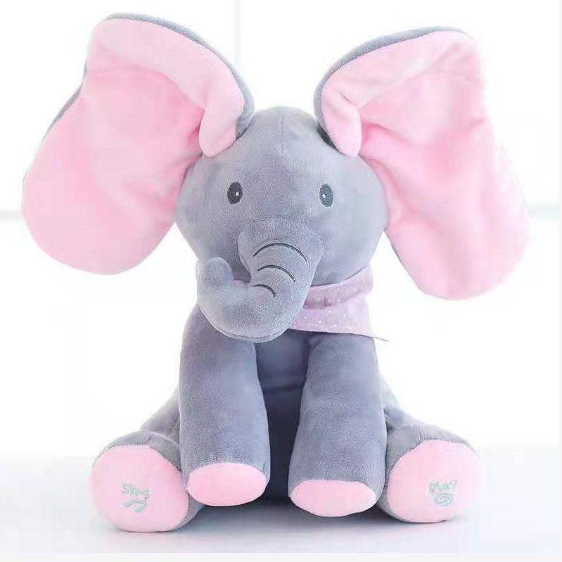 音乐大象毛绒玩具