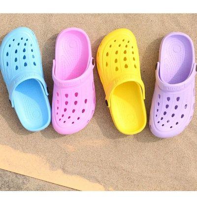 新款夏天女情侣软底EVA花园鞋包头洞洞鞋沙滩凉鞋现货批发支持定做