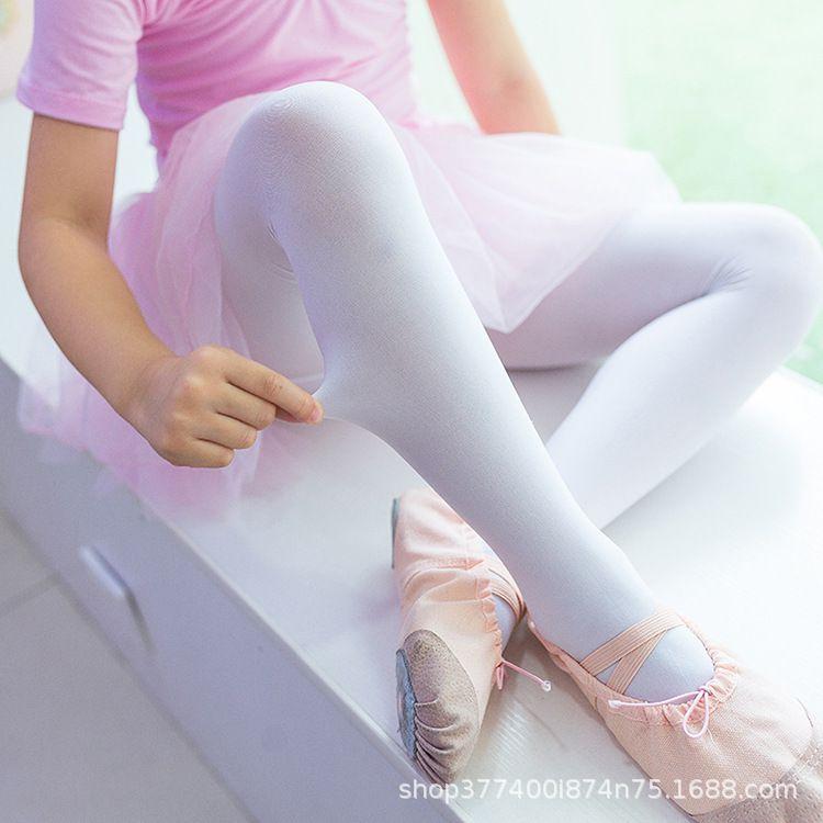 工厂批发抗起球儿童菠萝舞蹈袜夏季薄款丝袜裤打底裤白色舞蹈袜子