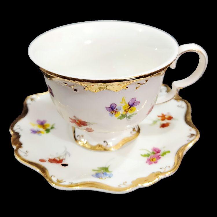 欧式高档新款6人套12头6杯6碟新骨瓷镶金茶具杯碟套装