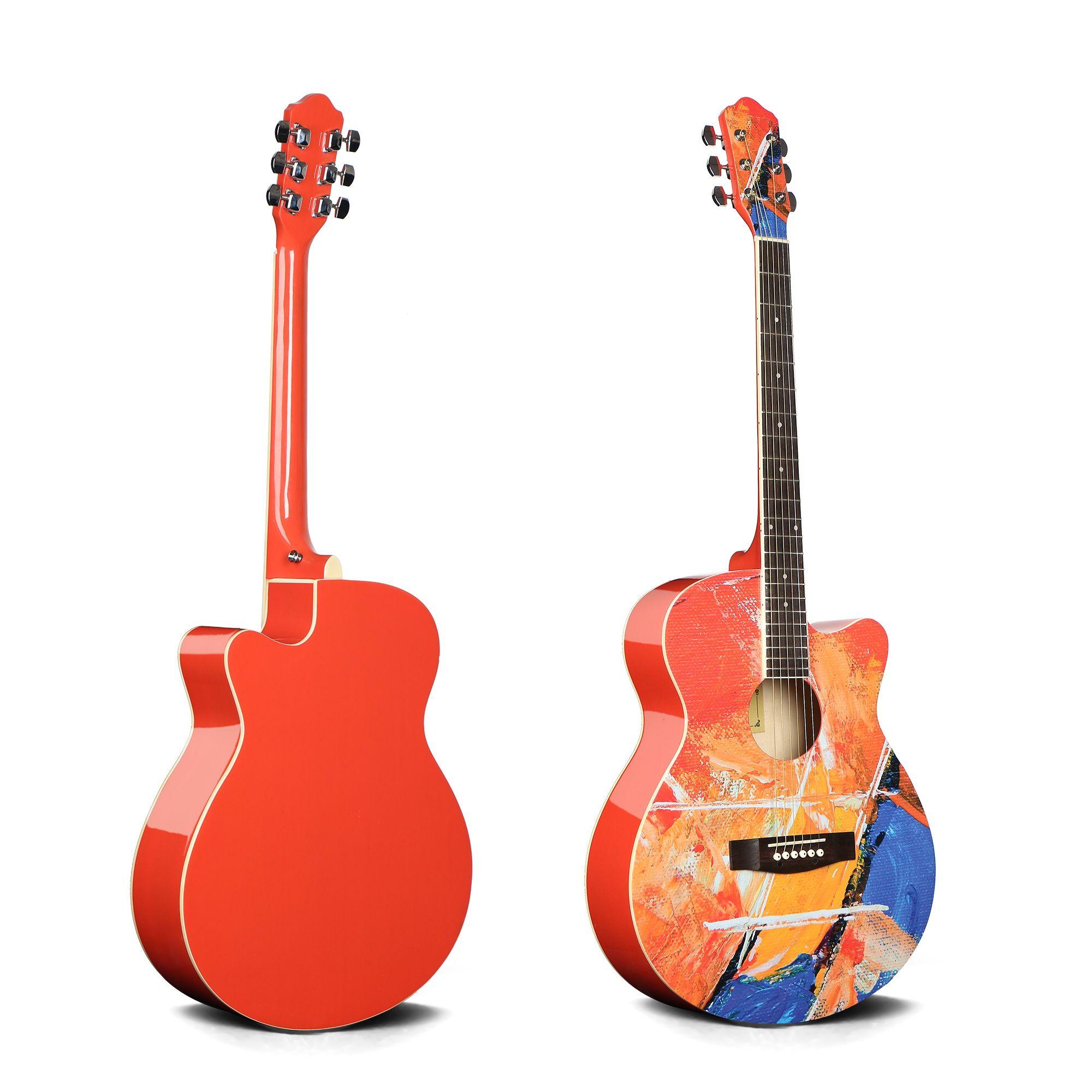 乐器民谣40寸吉他花吉他印花吉他