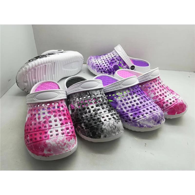 儿童EVA数码印花园鞋