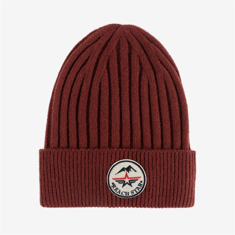 秋冬卷边圆顶缎纹缎档毛线帽户外保暖冬季翻边帽加工定制针织帽纯色帽