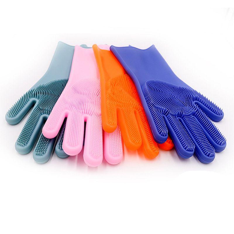 【加工定制】工厂男女家用多功能手套 宠物厨房洗碗手套 硅胶手套