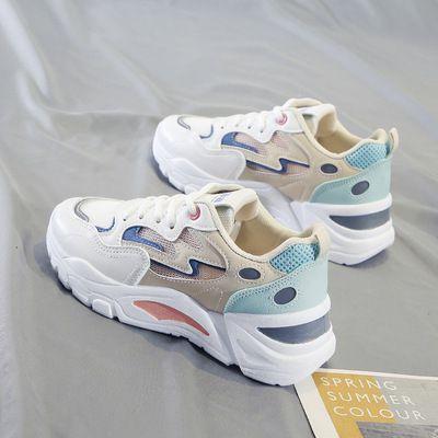 老爹女鞋2021夏季新款透气百搭韩版运动鞋学生街拍鞋网鞋XN-811-9