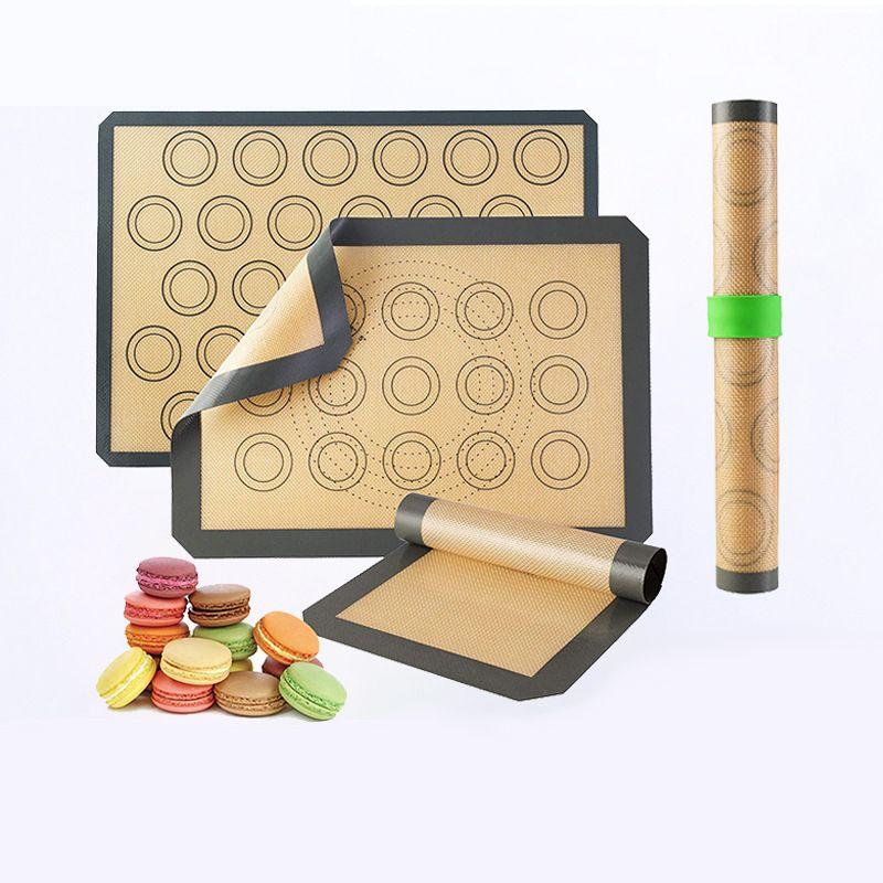 烘焙工具揉面垫硅胶玻璃纤维烤箱垫烘烤垫马卡龙垫 硅胶烤垫