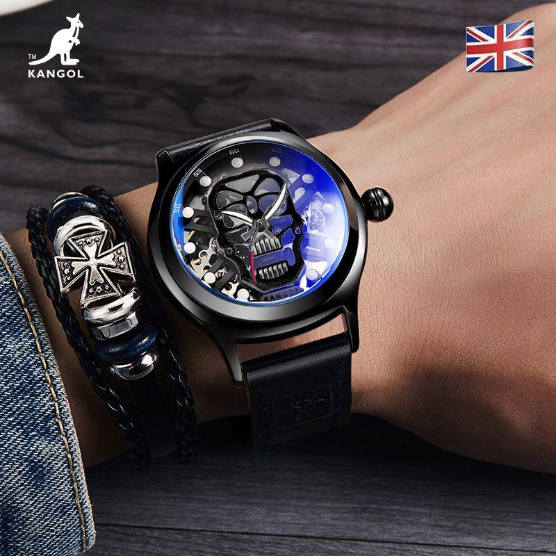 英国品牌坎戈尔袋鼠KANGOL全自动机械表男士手表学生防水