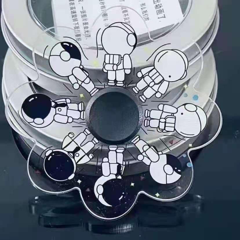 酷跑陀螺3D旋风幻影陀螺光学指间陀螺桌面旋转陀螺酷跑