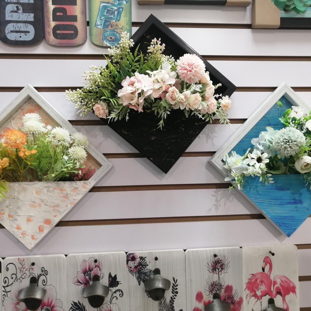 假花仿真花墙面装饰花相框花艺组合创意壁挂布景花艺