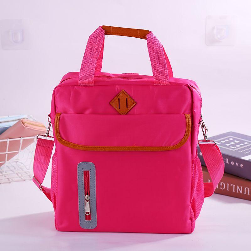 学生手提袋拎书袋多功能包辅导班补课包单双肩斜跨包补习袋大容量