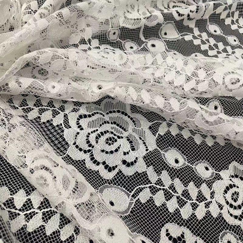 蕾丝布料服装面料薄款衬衣半身裙连衣裙衣服装饰花边辅料背景布