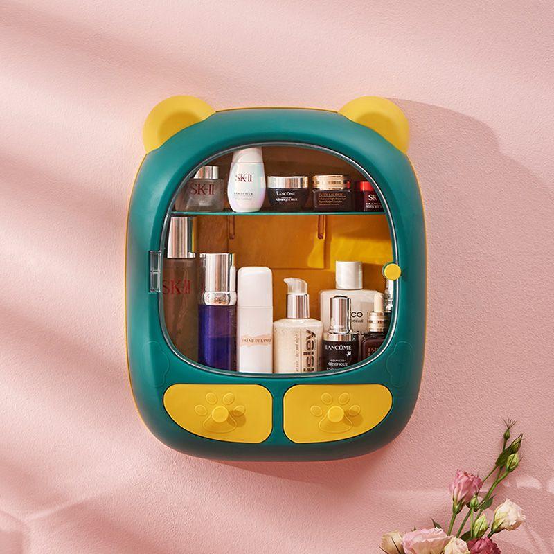 壁挂式化妆品收纳盒免打孔家用大容量护肤品口红墙上浴室置物架