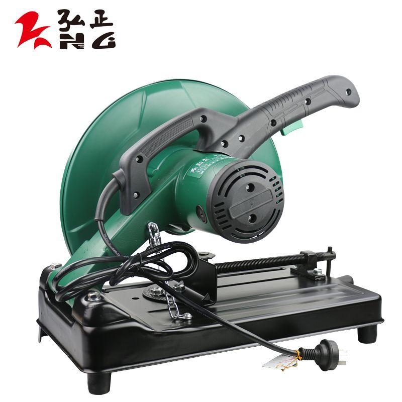 弘正多角度350型材切割机355大功率钢材机家用多功能木材钢材机