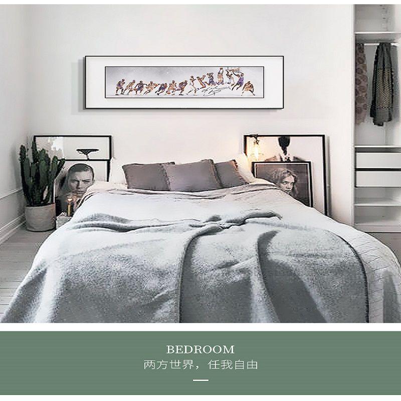 科比布莱恩特 NBA球星科比篮球现代装饰画男孩卧室床头生涯蜕变双框画
