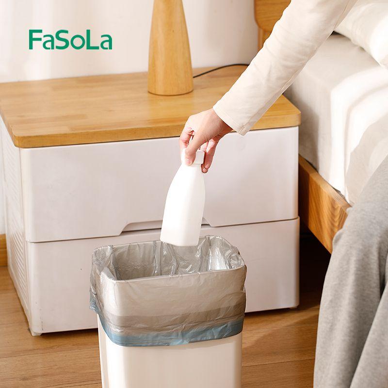 抽绳垃圾袋家用加厚厨房大号钢袋手提式自动收口背心穿绳袋