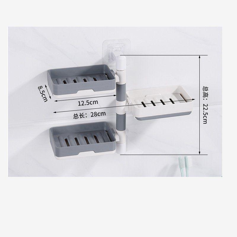 可旋转免打孔壁挂式香皂盒卫生间置物架