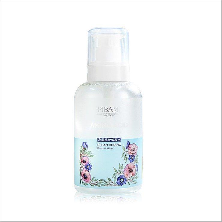 比芭美氨基酸净澈养护卸妆水温和脸部卸妆液按压式男女通用