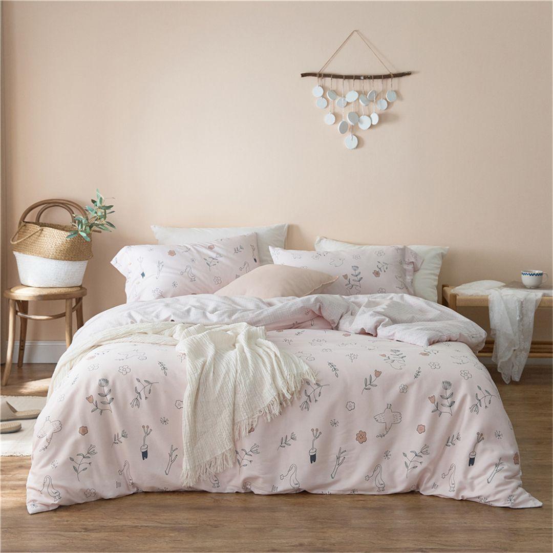 家居外贸纯棉贡缎 儿童亲子床上用品套件 全棉40S柔丝缎四件套 1.5米床