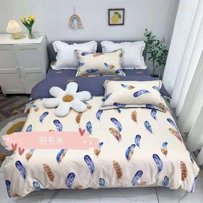 高支高密40支纯棉斜纹家纺四件套流行INS风大花边床单设计师款 单套包邮