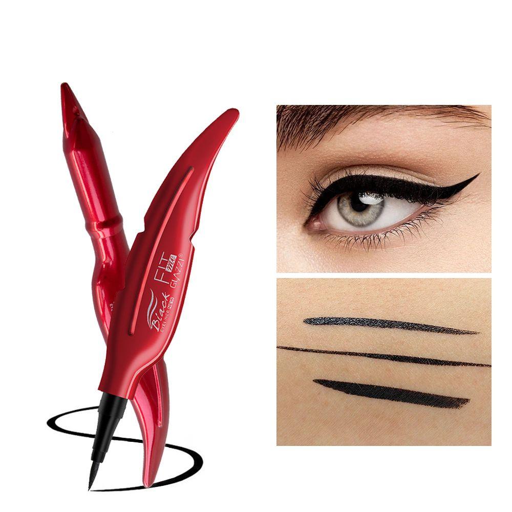 GLAZZI高清眼线笔 不晕染防汗毛刷头眼线液笔易控易干批发跨境
