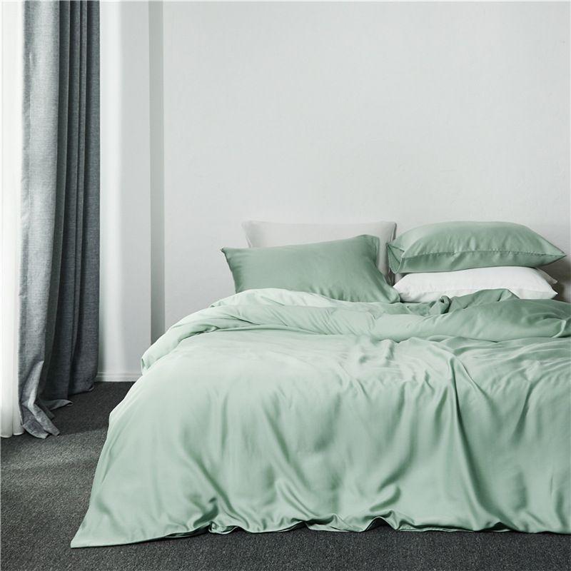 60支 纯色 天丝 四件套民宿外贸家居床上用品 套件 1.5米床