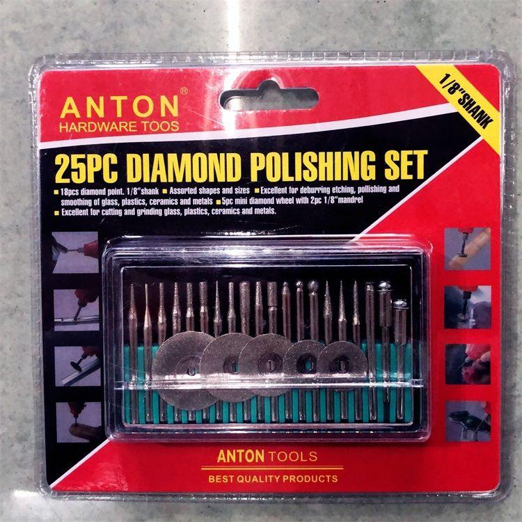 五金工具电磨机配件切割打磨抛光打磨头25件套电磨头厂家直供套装