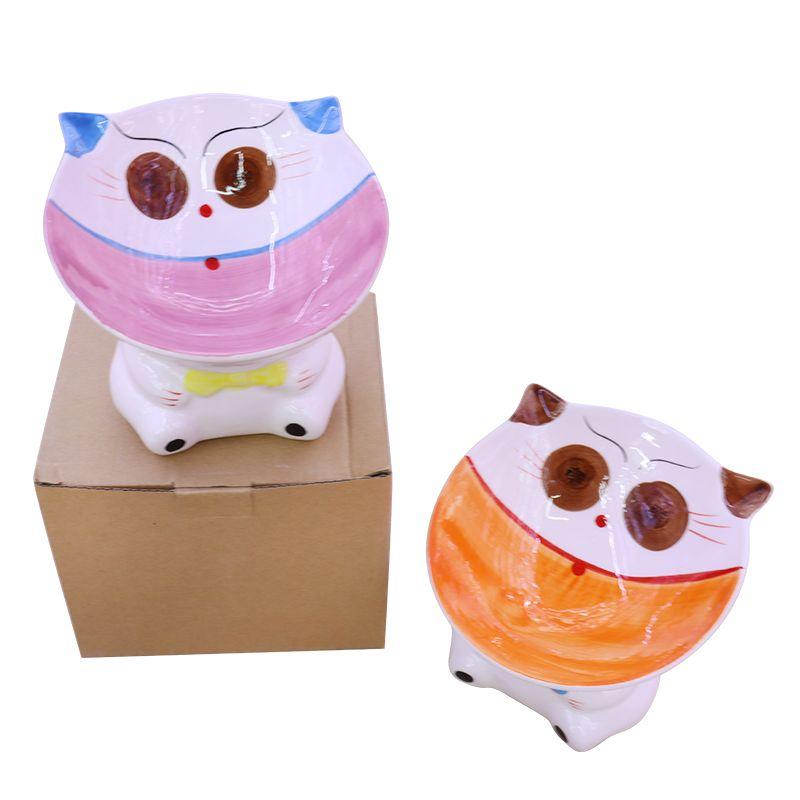 新悦陶瓷工艺品宠物陶瓷碗狗盆狗碗猫碗双碗喝水碗