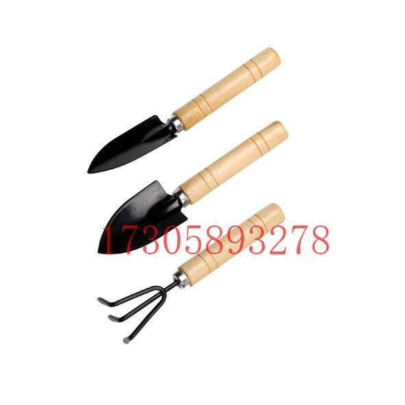 YLC-02 木柄3PCS园林铲/家用花园小铲套装