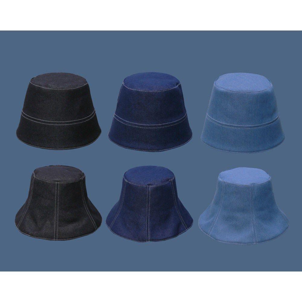 日系牛仔水桶帽渔夫帽百搭遮脸显脸小防晒渔夫帽素颜遮阳帽
