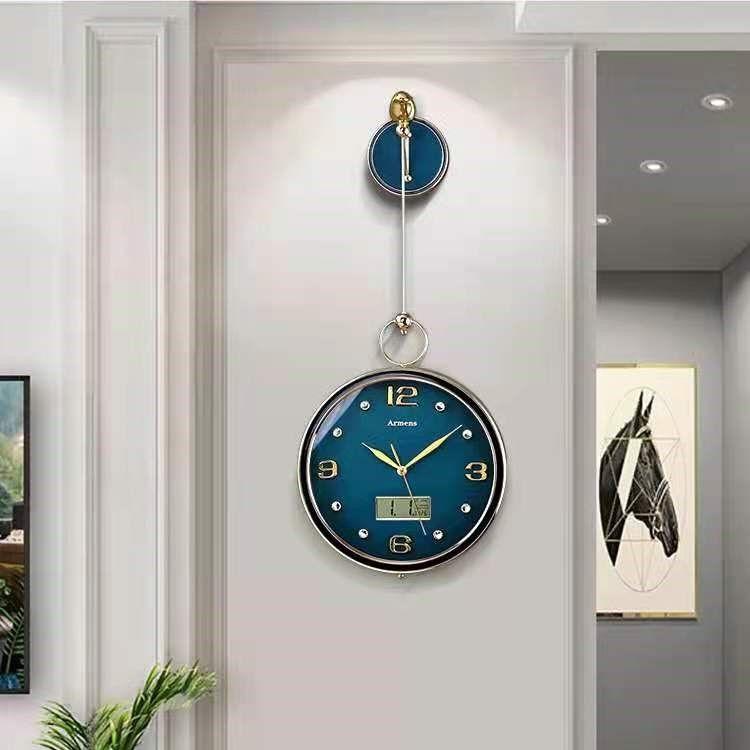 现代轻奢客厅表2021年新款钟表挂钟装饰餐厅挂墙家用时尚创意时钟
