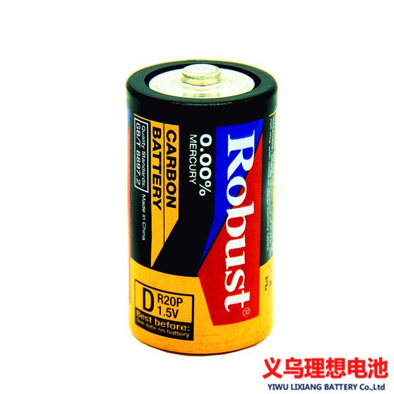 ROBUST碳性电池 1号大号R20p 1.5V简装 煤气灶手电筒 批发