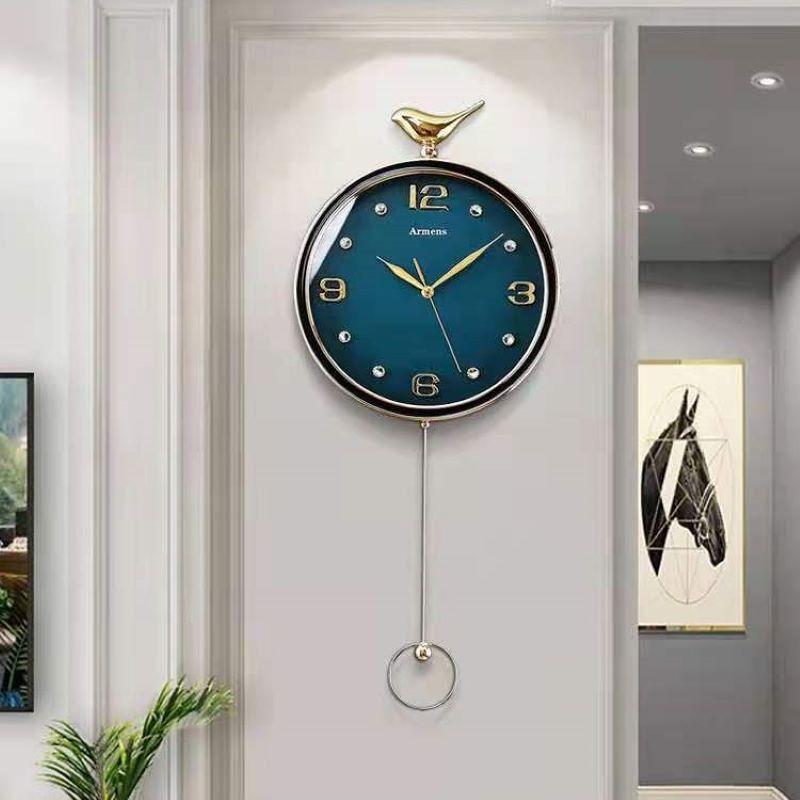 北欧轻奢现代装饰钟表挂钟家用时尚表挂墙客厅表2021年新款时英钟