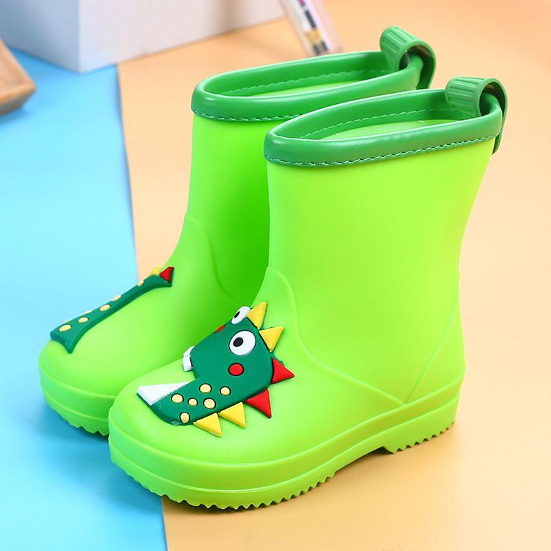 新款卡通立体小恐龙儿童雨鞋 防滑时尚防滑宝宝雨靴