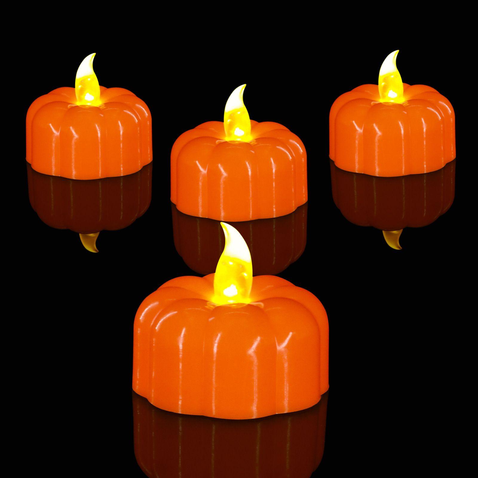 万圣节南瓜蜡烛灯 鬼节氛围装饰电子蜡烛灯创意造型led蜡烛灯