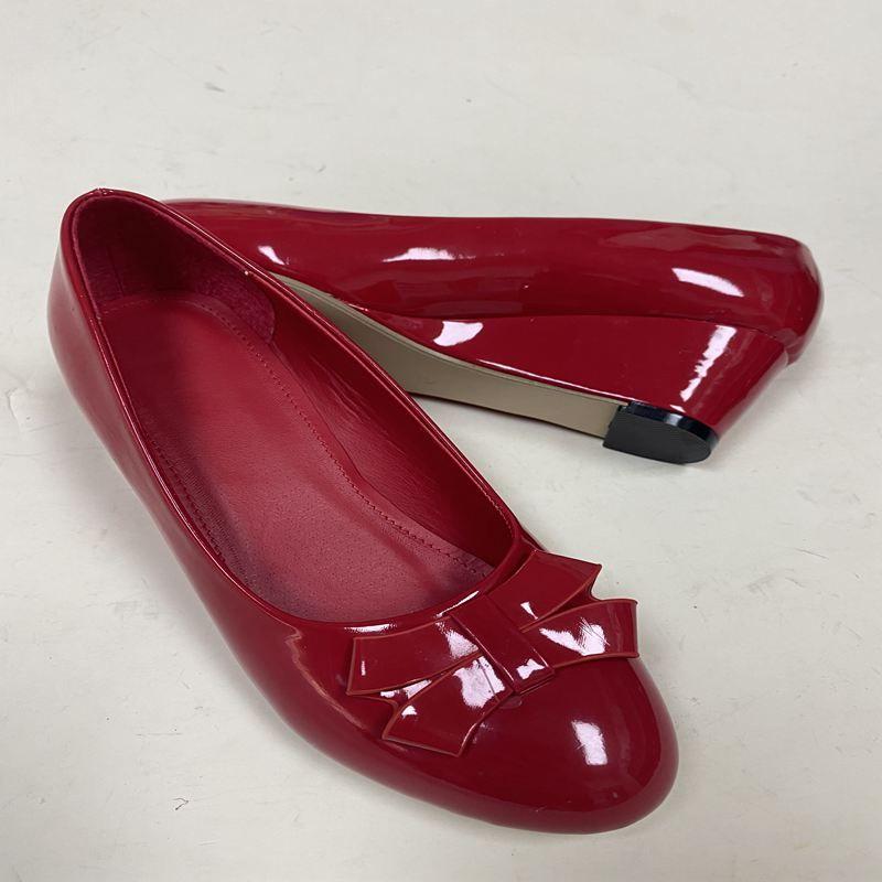 PU女士浅口单鞋高跟坡根平跟粗跟如图单鞋拖鞋耐穿防臭多色品质好女鞋优质淑女鞋44225-12#